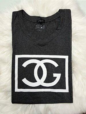T-shirt Estampada - Cor: Cinza | Petit Rosè