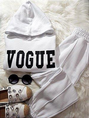 Conjunto de Moletom Vogue Branco - Peluciado | Petit Rosè