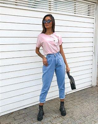 T-Shirt Quarentini | Rosa Claro