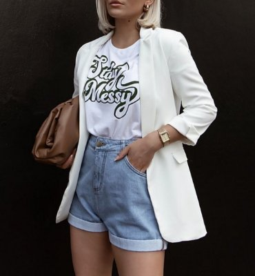 T-shirt Stay Messy | Cor: Branca
