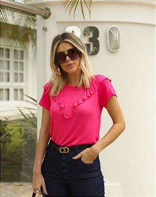 Blusa Jackie: Pink, Preto e Off White | Malha de Tricot