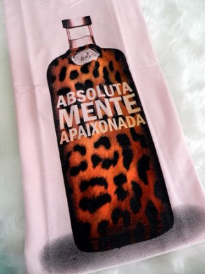 T-shirt Absolutamente Apaixonada { Animal Print } Petit Rosè