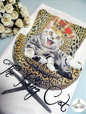 T-shirt The King Cat [ Off White ] Petit Rosè