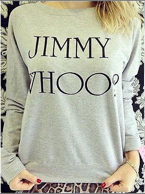 Moletom Jimmy Whoo [ Cinza ]