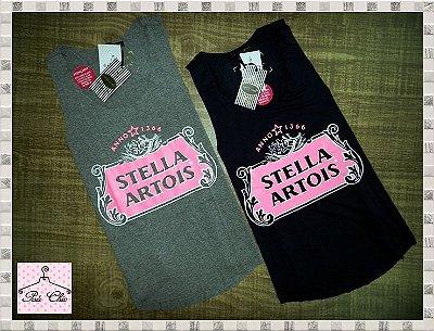 Regata Stella Artois [ Cinza Mescla ] Corte a Fio