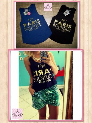 Regata N1 Paris Boutique New York ||Corte a fio [ Cor Azul ]