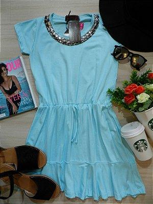 Vestido Azul [[ Bordado ]]