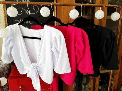 Blusa Cropped Diva com 3 Tipos de Amarração | Pink, Rosa, Branco e Preto
