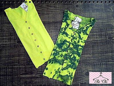 Cardigan Amarelo || Amarelo e Verde { Tricot }
