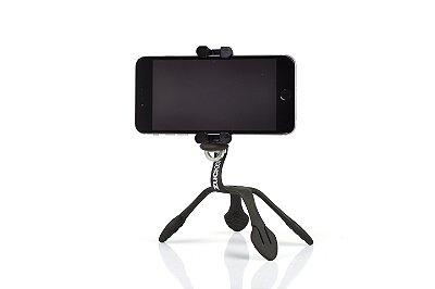 GekkoPod para Celular, GoPro e Câmera Preto com o controle bluetooth UNIVERSAL + SELFIE RING LIGHT DE BRINDE