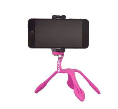Gekkopod para Celular e Câmera Fotográfica Rosa (adaptador preto) Zuckerim + um controle bluetooth  de brinde BASICO