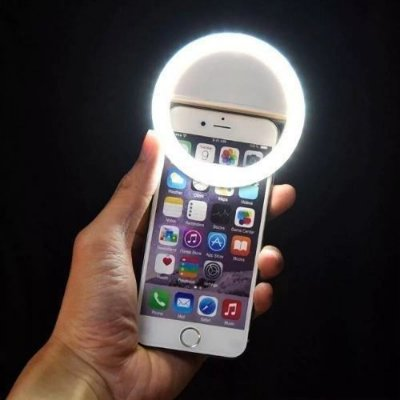 Luz De Selfie Ring Light Clipe Anel Led Flash Usb Celular BRANCO