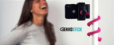 GEKKOSTICK para celular - ROSA com controle Bluetooth universal + SELFIE LUZ DE BRINDE