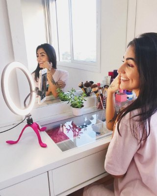 Gekko Luz Selfie Profissional 10 POLEGADAS ROSA + POWER BANK (BLACK FRIDAY)