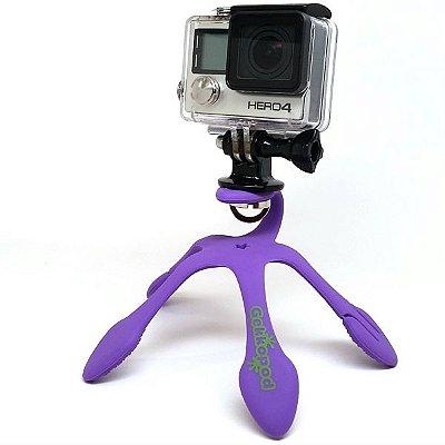 GekkoPod para GoPro e Câmera Fotográfica Roxo - Zuckerim