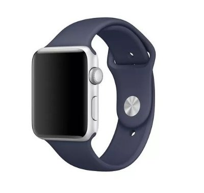 Pulseira Apple Watch Sport Azul Meia-noite Silicone