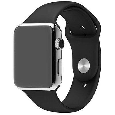 Pulseira Silicone Para Apple Watch - Preta