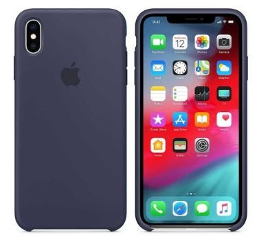Capa Para Apple Iphone Xr Silicone Case - Azul Marinho Midnight