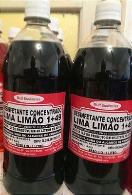 Desinfetante  Concentrado 1/49 Lima Limão