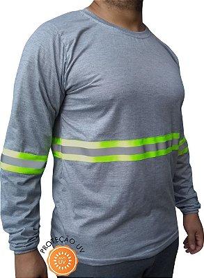 Camiseta Com Faixa Refletiva Para Trabalho