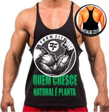 Camiseta regata cavada - Quem Cresce Natural é Planta