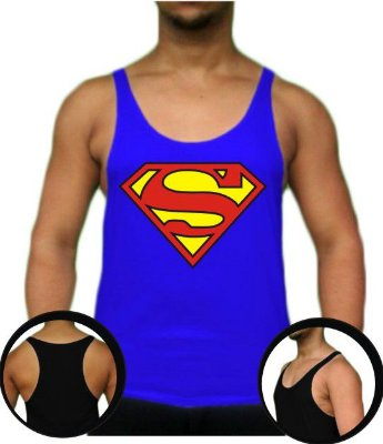 Regata Cavada Tank Top Superman (médio cavada)