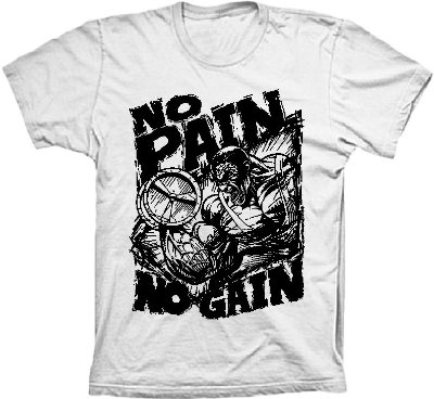 Camiseta No Pain No Gain Marombeiro