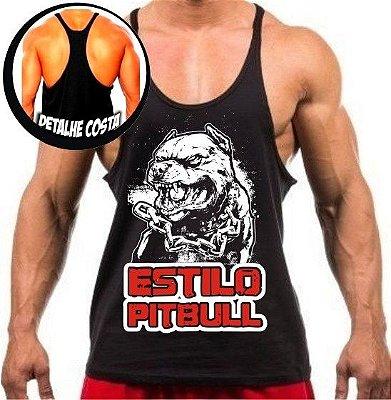 Camiseta regata cavada Estilo pitbull 02