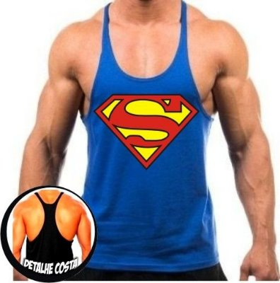 Camiseta Regata Cavada Superman