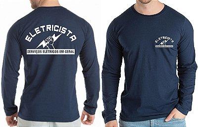Camiseta Para Eletricista Trabalho Uniforme Profissional Autônomo