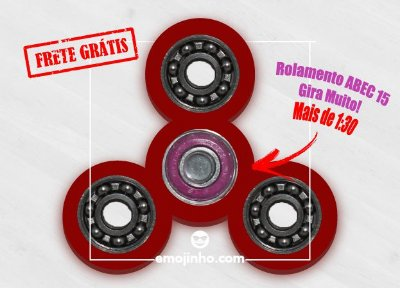Fidget Hand Spinner - Discos Vermelho