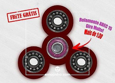 Fidget Hand Spinner - Discos Vermelho Translúcido