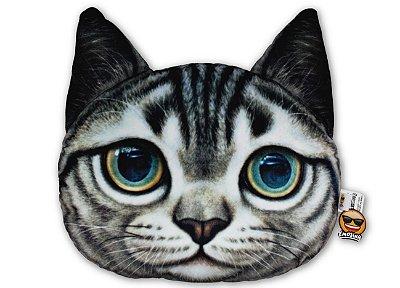 Almofada Pet Gato - Cinza rajado
