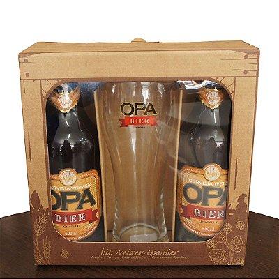 Kit Opa Bier 2 Cervejas Weizen + 1 Copo Weizen
