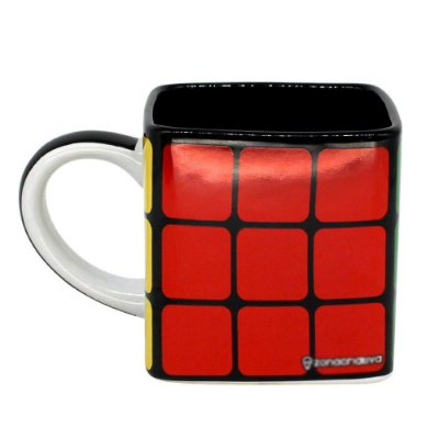 Caneca Quadrada Cubo Mágico