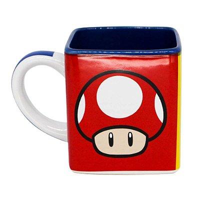 Caneca Quadrada Ícones - Mario Bros