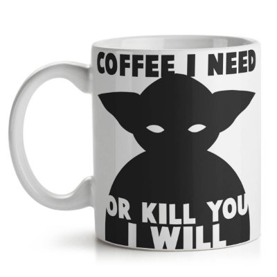 Caneca Mestre Yoda Coffee I Need - Star Wars