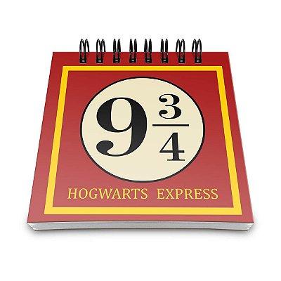 Bloco de Anotações Plataforma 9 ¾ - Harry Potter