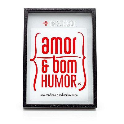 Quadro Receita Médica - Amor & Bom Humor