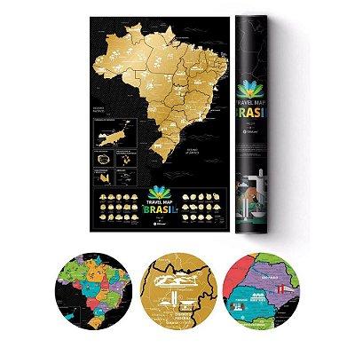 Pôster Plástico Mapa Raspadinha - Brasil