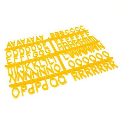 184 Letras e Números para Mural Letreiro Letter Board - Amarelo