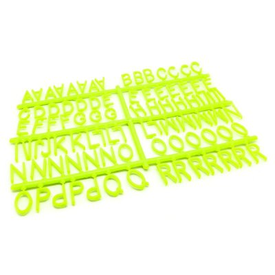 184 Letras e Números para Mural Letreiro Letter Board - Verde