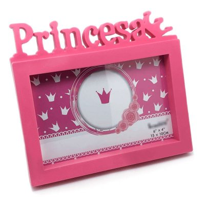Porta Retrato Princesa 15cm x 10cm - Rosa