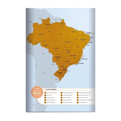 Pôster Mapa Raspadinha - Brasil