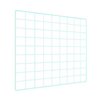 Memory Board Quadro de Fotos Verde Água - 45cm x 45cm + 6 Mini Prendedores