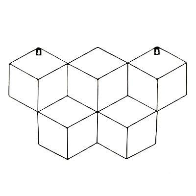 Memory Board Cubo Quadro de Fotos Preto - 45cm x 63cm + 3 Mini Prendedores