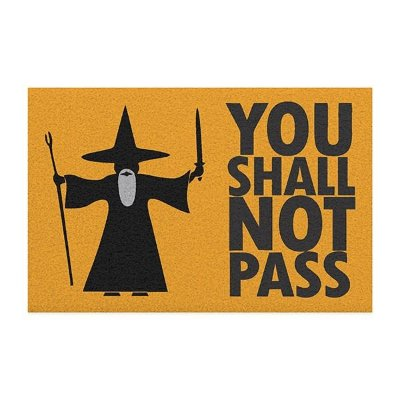 Capacho Senhor do Anéis - Shall Not Pass