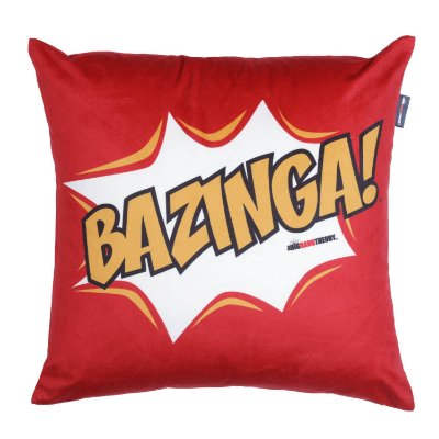 Capa Almofada The Big Bang Theory Bazinga - 45cm x 45cm