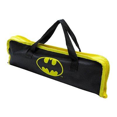 Kit Churrasco Batman - Garfo Faca Pegador c/ Sacola
