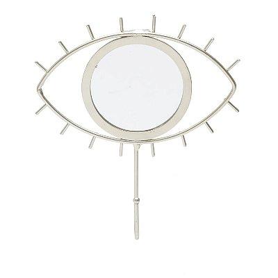 Cabideiro Gancho de Parede - Olho c/ Espelho
